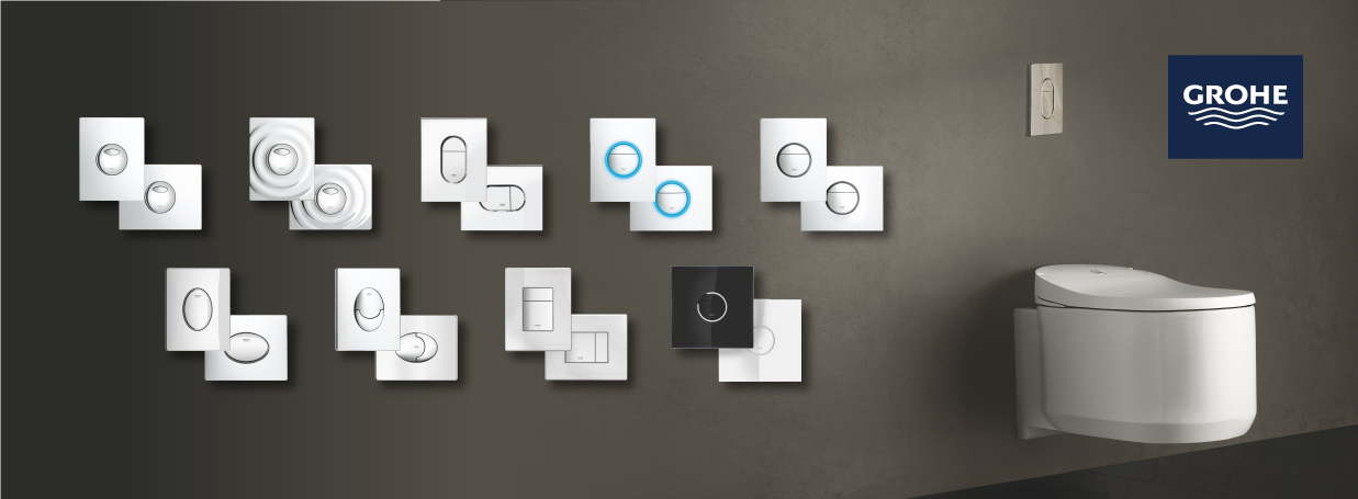 GROHE flush plates at xTWOstore