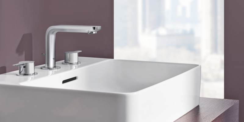Robinetterie 3 trous Grohe Lineare